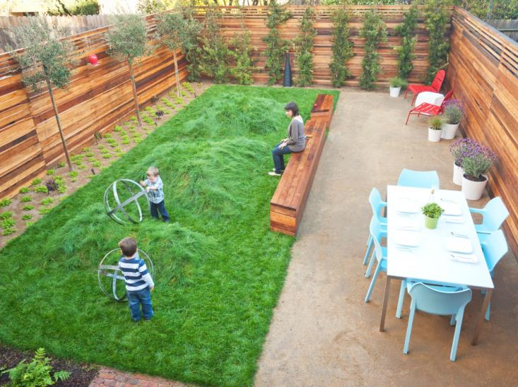 lawn to roll around on in a kid friendly backyard